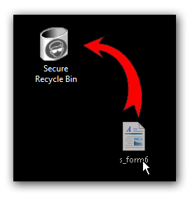 Drag and drop files to secure recycle bin to shred/wipe file